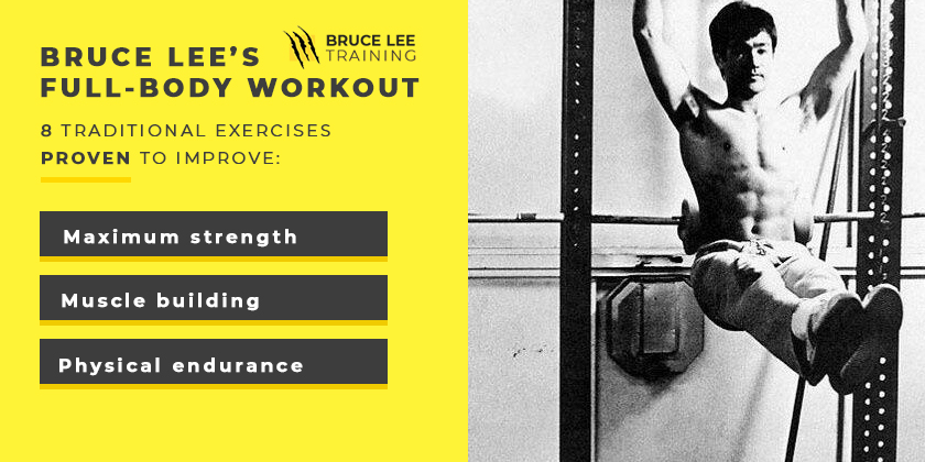 Bruce Lee workout and training program for full body strength and muscle development