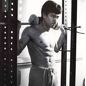 Bruce Lee workout weight training for the legs